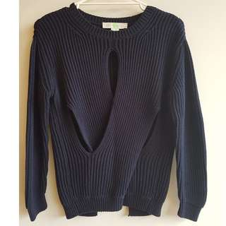 Stella McCartney cotton navy jumper - medium
