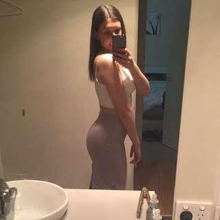 Light Purple/grey knee Length Skirt