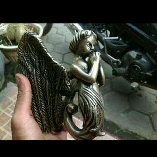 Door Knocker / Ketukan Pintu Kuningan / Brass Antik Motif Angel