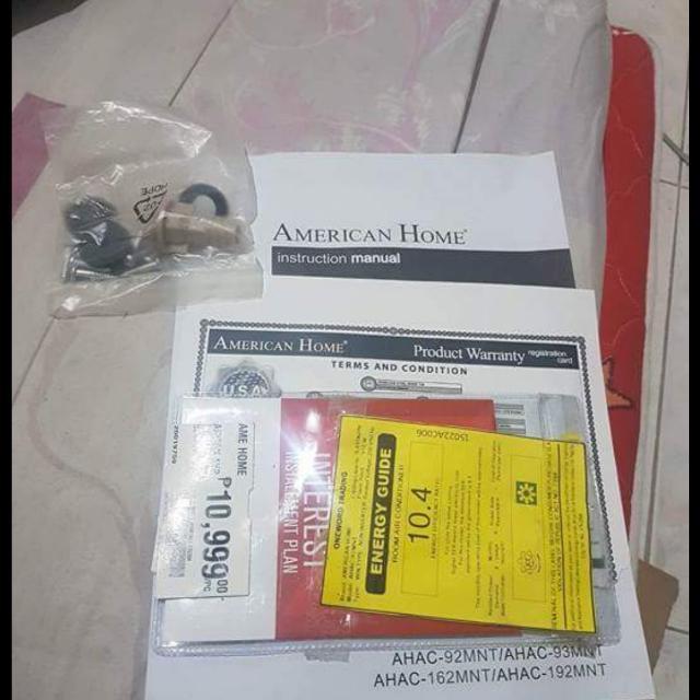 1 HP Aircon American Home Carriee Panasonic Lg