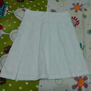 🚚 TOP-DO 白色百摺裙
