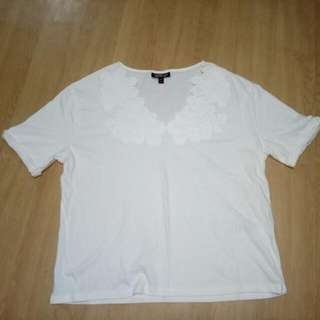 White Topshop Top
