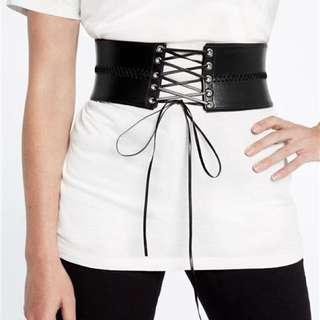 Bardot Black Corset Belt