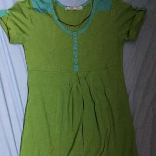 Folded And Hung Dress(Green)