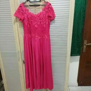 Baju Mama Wedding Pink Fushia