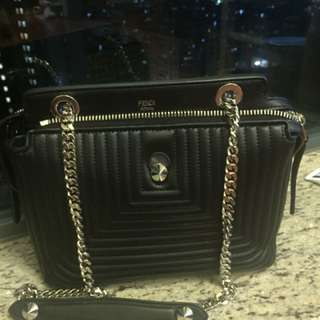 Fendi Dot.Com Black Lamb Leather Bag