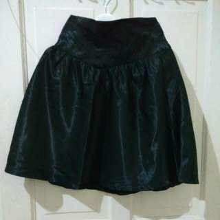 Black Satin Skirt