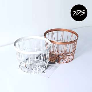 ⚡️[Instock] Minimalist Copper Loft Metal Basket