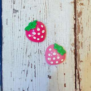 Cute Strawberry Cabochons