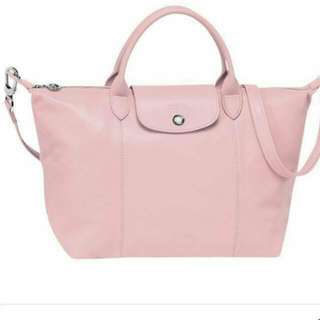 粉紅色真皮lonchamp 包包