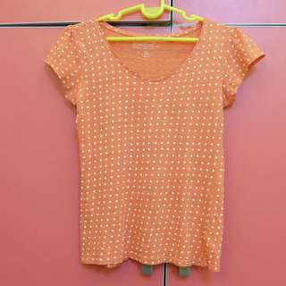 Orange Dotted Tee