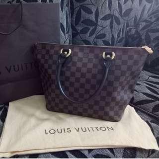 Authentic Louis Vuitton LV Damier Saleya PM Bag (Pre-Owned)