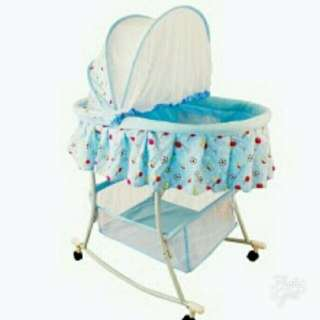 Multifunctional Baby Cradle Bed,  Crib and Rocker