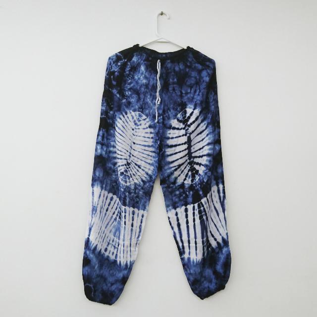 藍白雜染大象褲