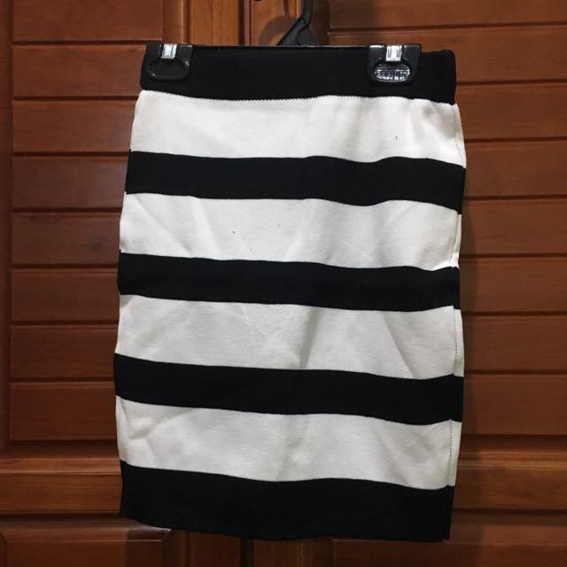 鉛筆條紋裙