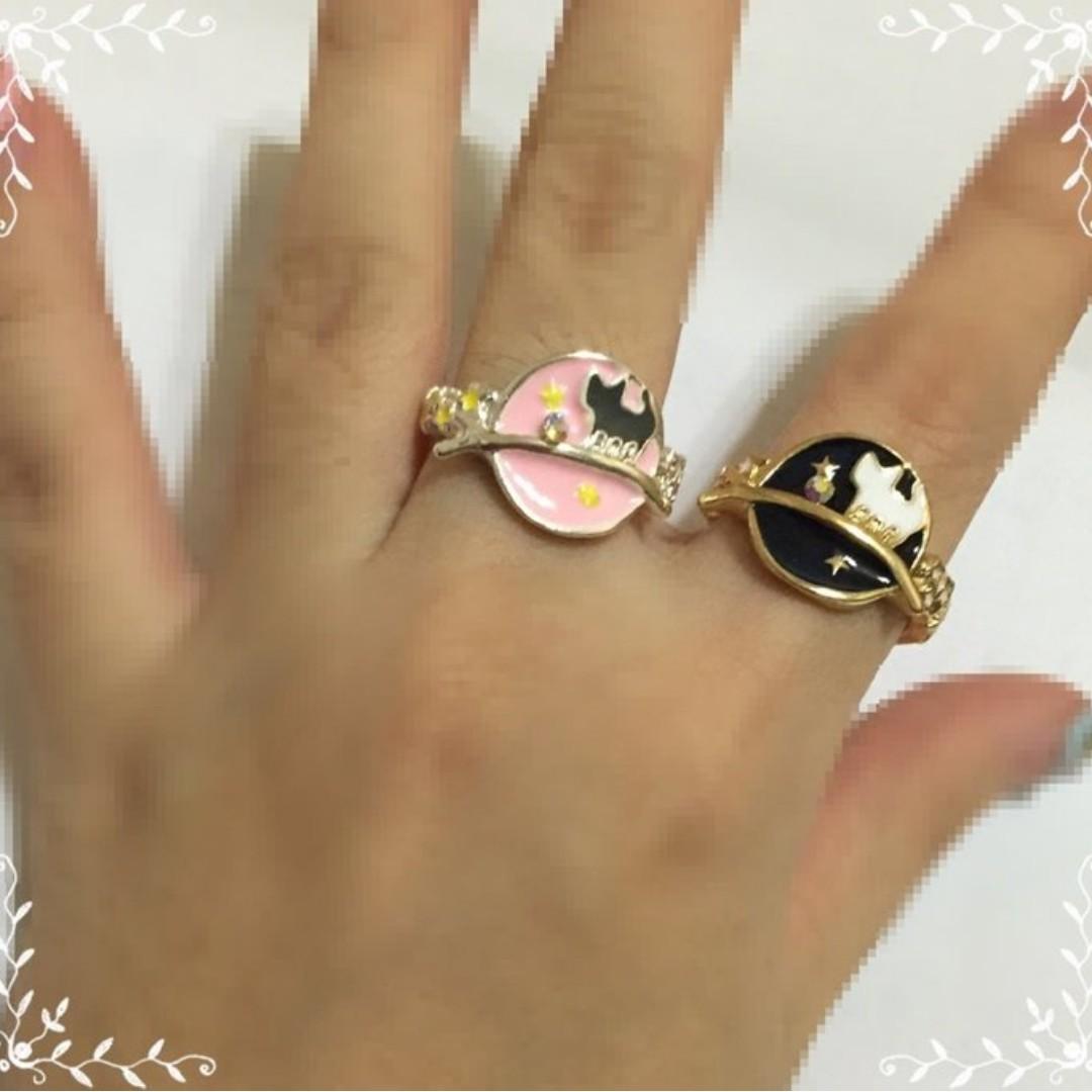 狐狸尾巴*日本同款 宇宙寶石小貓女半球星球水鑽樹枝星星項鏈毛衣鏈手鐲手鏈髮夾戒指