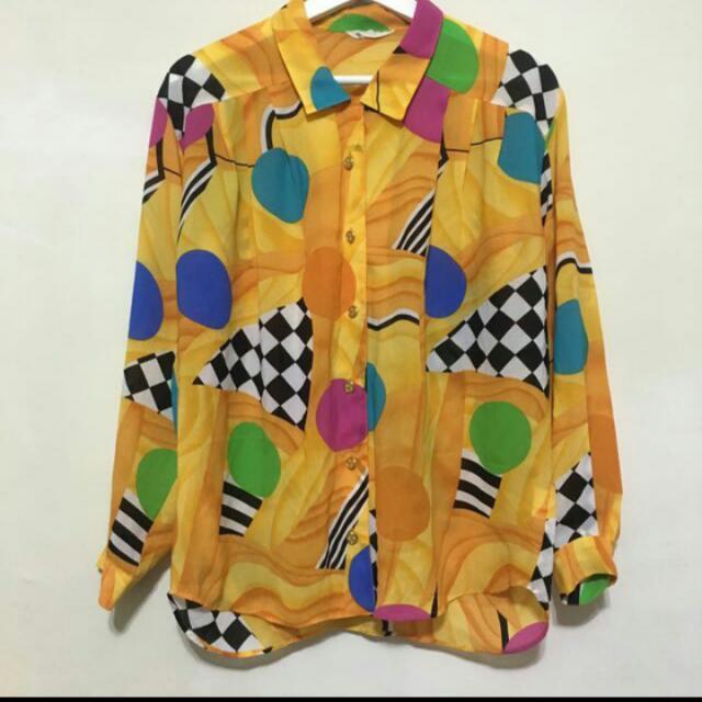 古著 日本製雪紡襯衫