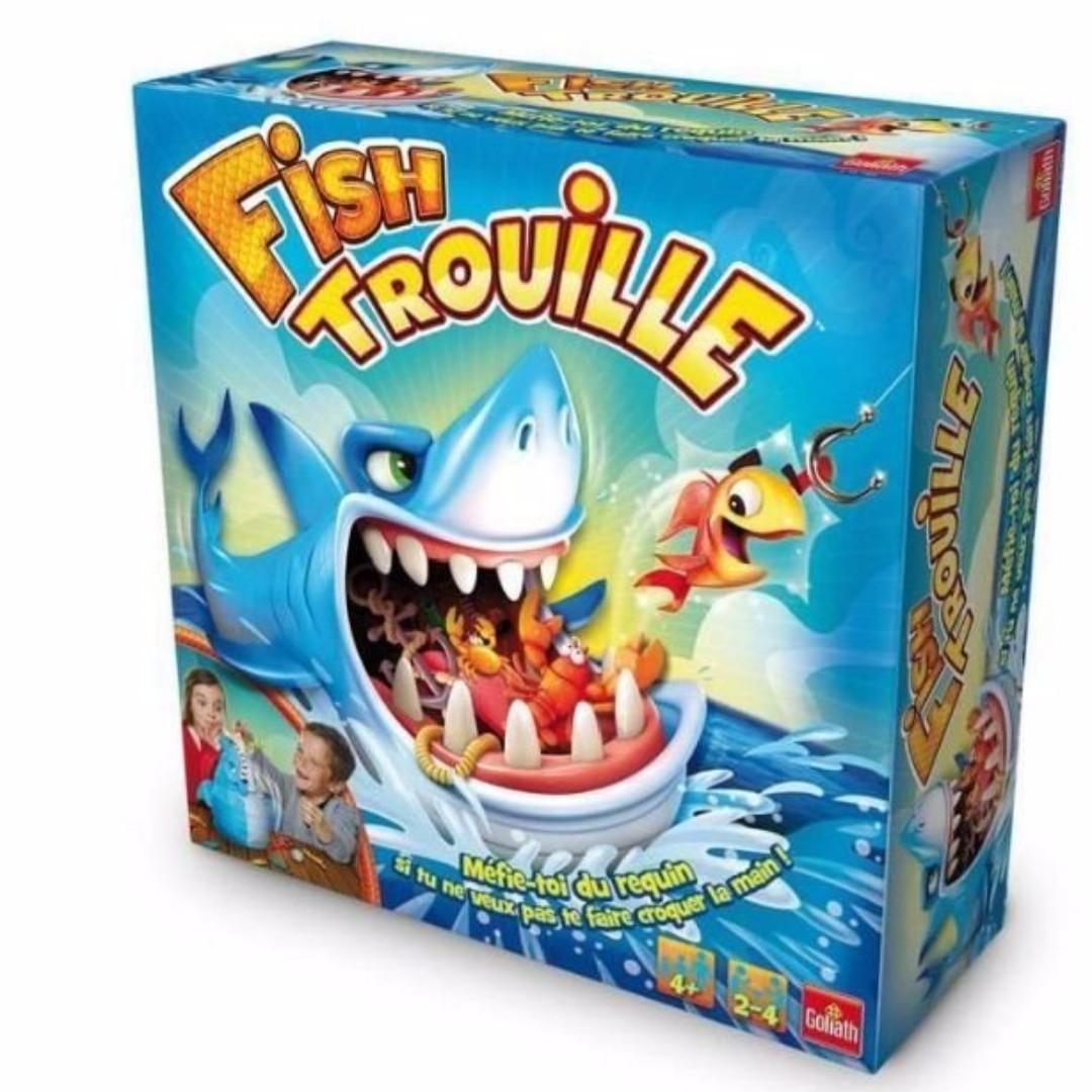 現貨 摸魚摸到大白鯊 鯊魚桌遊 整人玩具 生日 派對 桌遊 鯊魚 禮物 互動 親子同樂