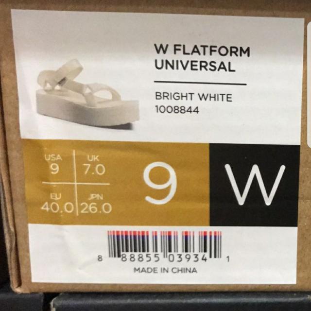 [大腳女福音] Teva 厚底潮爆涼鞋, 香港IT有售但無咁大size, US 9, UK 7, EU 40, JPN 26, 黑色1對