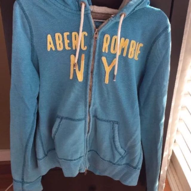 Abercrombie & Fitch/A&F women's blue hoodie, size L
