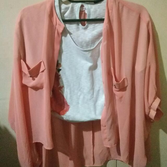 Adore Peach Pink Blazer