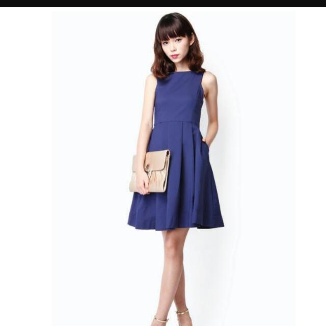 67529f1573ad85 AFA Ambrosia Midi Dress in Cobalt Blue size S, Women's Fashion ...