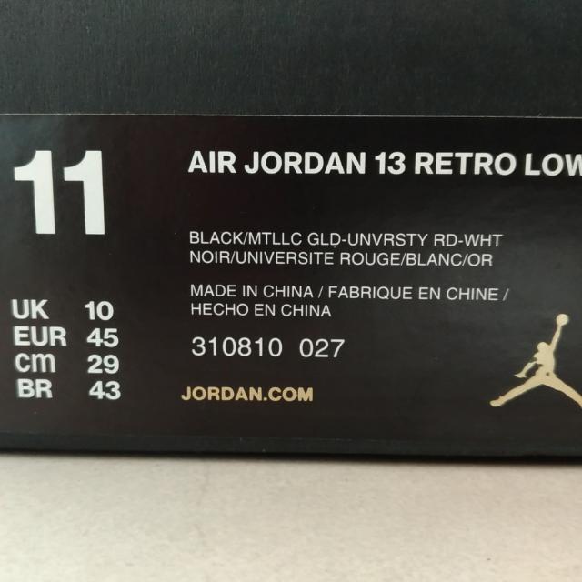Air Jordan 13 Retro Low Bred