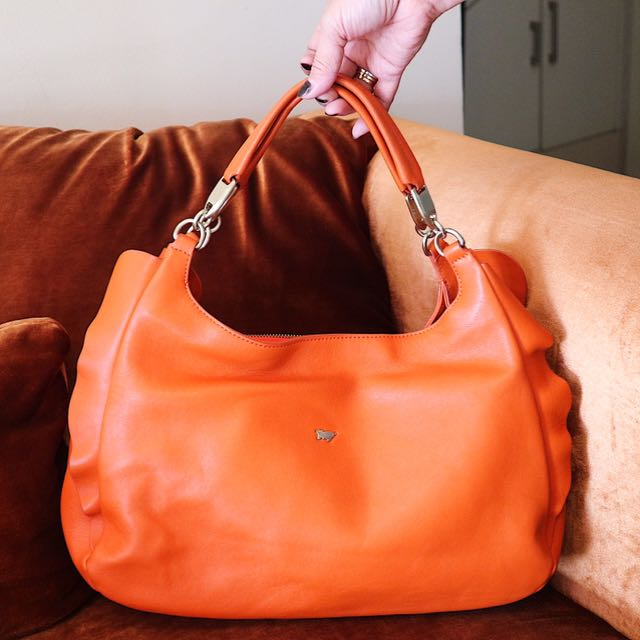 Authentic Braun Büffel orange full leather