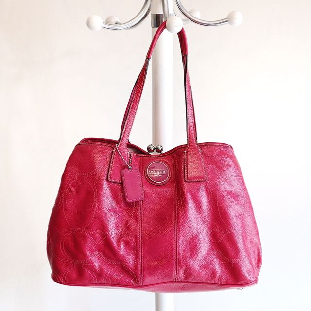 Authentic Coach pink full leather