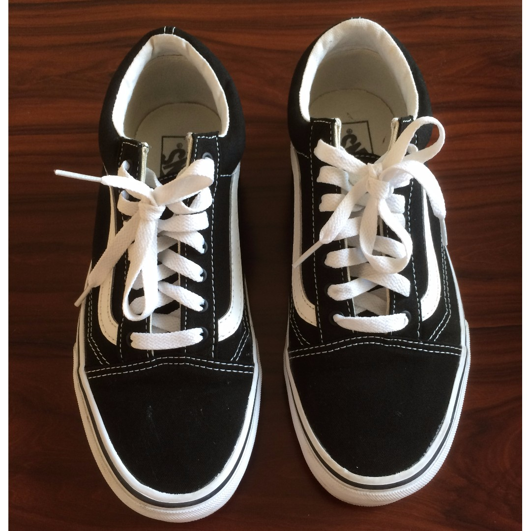 Authentic Sepatu Vans Old Skool Black True White (ORIGINAL 100 ... 4e8bf76209