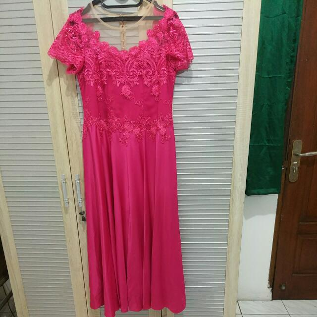 Baju Mama Wedding Pink Fushia