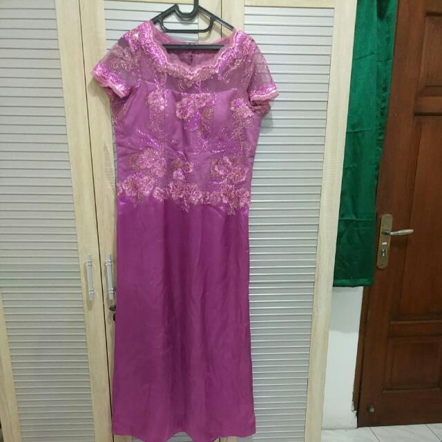 Baju Mama Wedding Purple
