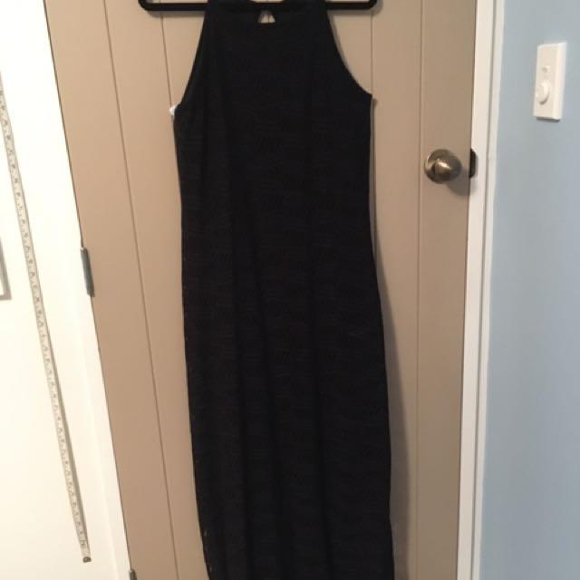 Ball Dress Long Black (size 16)