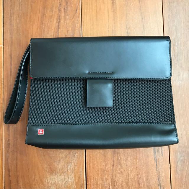 正品/BALLY瑞士品牌黑色手拿包