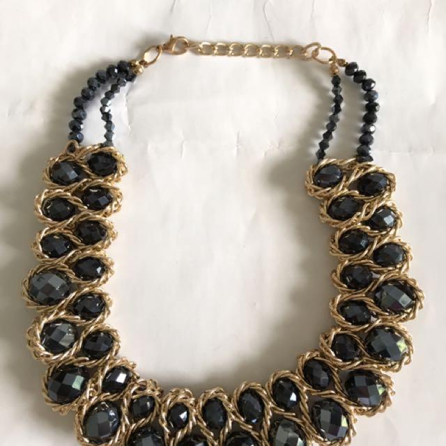 Big Black Pearls Necklace