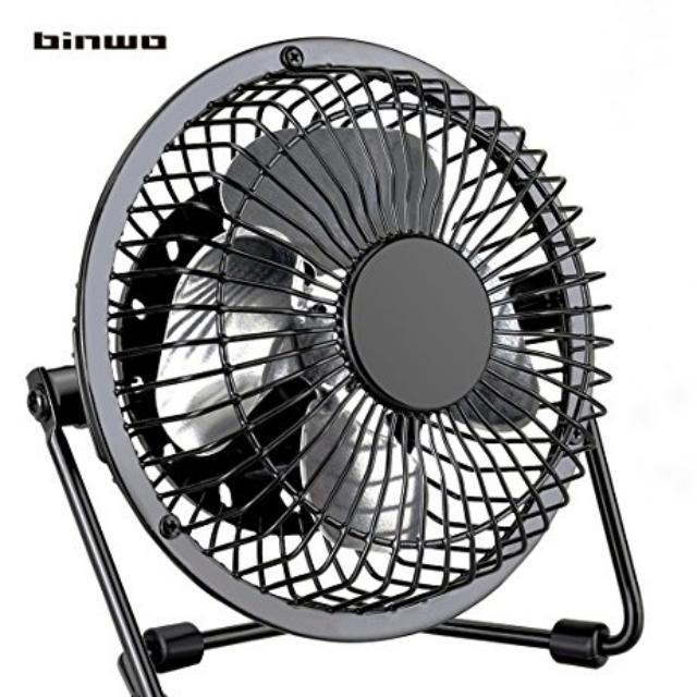 Binwo USB Fan Ultra Quiet Portable Fan Metal Cooling, Power Saving 4