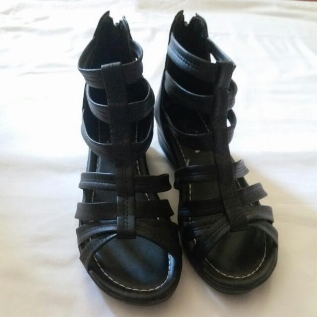 Black High Cut Sandals
