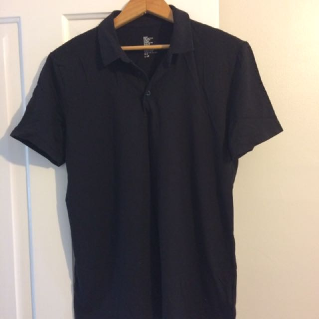 Black H&M Golf Shirt (medium)