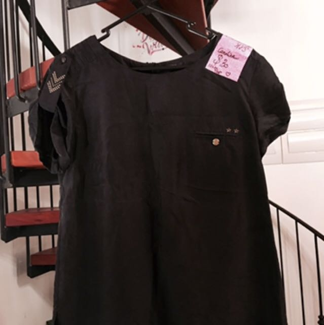 Black Silk Top - Size 10