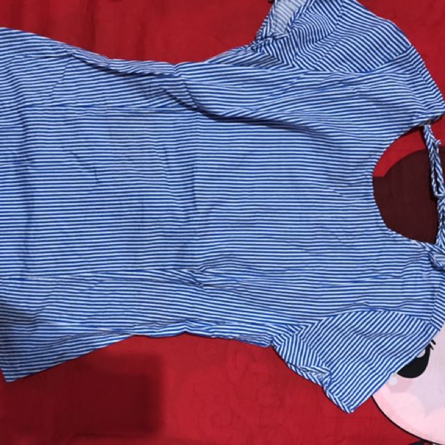 Blouse - Kaos Stripe Light Blue