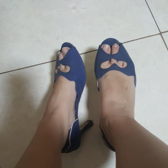 Blue Heart Heels