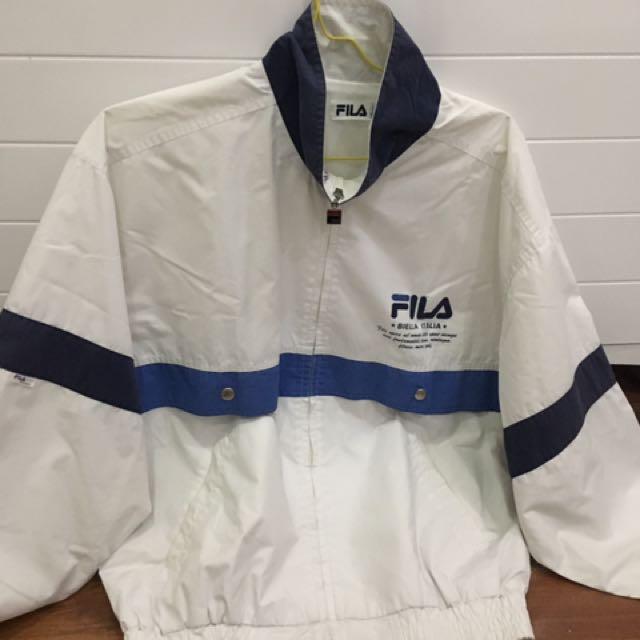 Blue White Fila Jacket