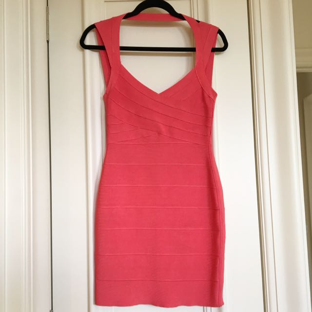 Bodycon Coral Dress