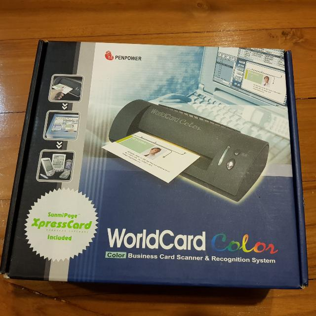 Brand new penpower worldcard color desktop business card scanner photo photo photo photo photo colourmoves