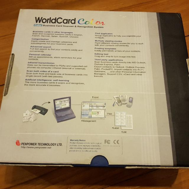 Brand new penpower worldcard color desktop business card scanner brand new penpower worldcard color desktop business card scanner electronics computer parts accessories on carousell colourmoves