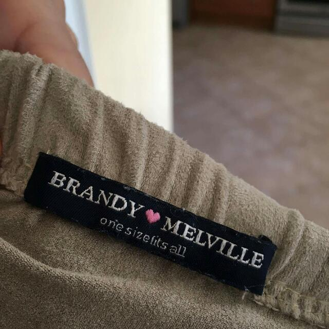 Brandy Melville Suede Skirt OS
