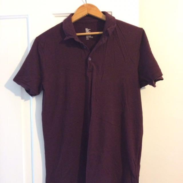 Burgundy H&M Golf Shirt (medium)