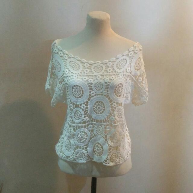 Cableknit / Lace Top