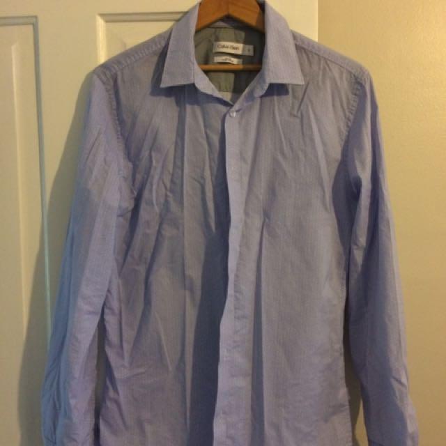 Calvin Klein Slim Fit Dress Shirt (medium)