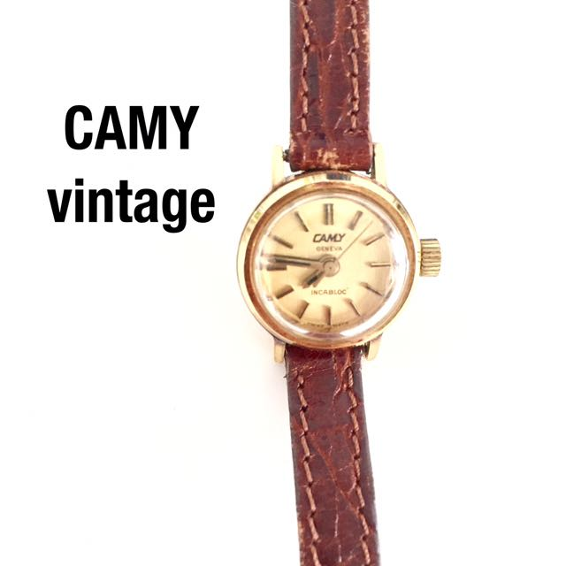 CAMY vintage manual winding gold ladies watch